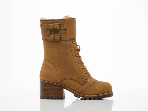 Jeffrey Campbell In Tan Crazy Horse Runyon SH