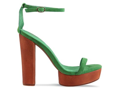 Jeffrey Campbell In Green Suede Sabine