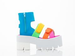 Jeffrey Campbell In Neon Multi Neoprene White Sanday