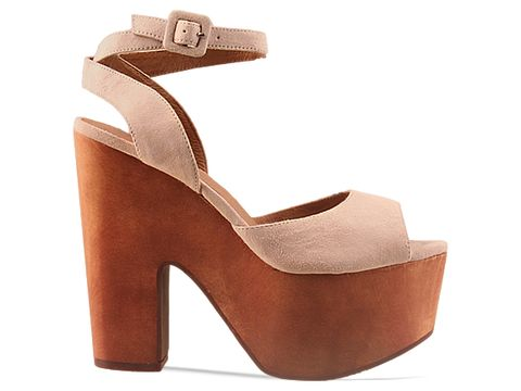 Jeffrey Campbell In Nude Suede Sassy