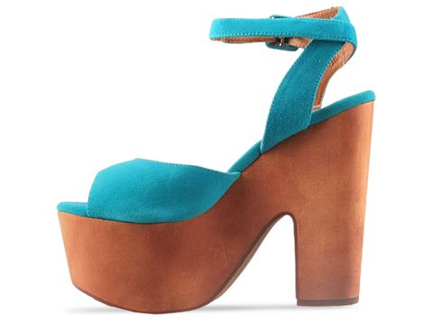 Jeffrey Campbell In Turquoise Suede Sassy
