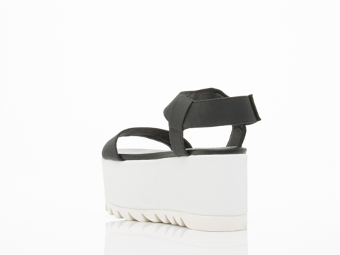 Jeffrey Campbell In Black Rubber White Saugren