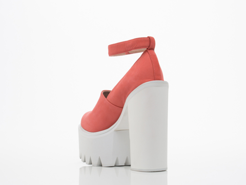 Jeffrey Campbell In Coral White Scully