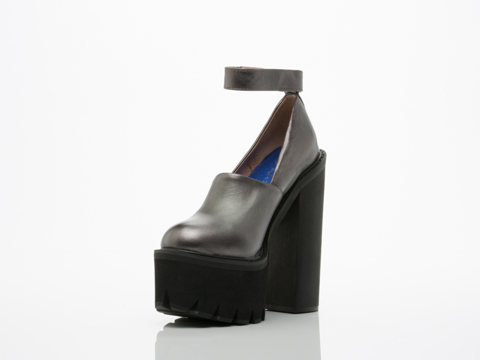 Jeffrey Campbell In Silver Black Scully