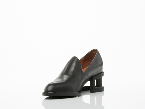 Jeffrey Campbell In Black Black Matte Serling Missing Heel