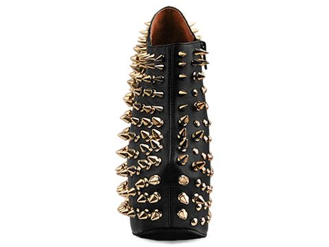 Jeffrey Campbell In Black Gold Shadow Stud Gold