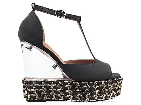 Jeffrey Campbell In Black Gold Shaina