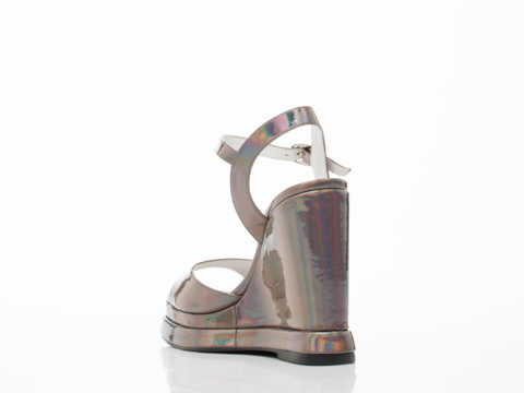 Jeffrey Campbell In Pewter Mirror Shalimar