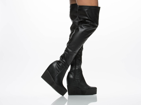 Jeffrey Campbell In Black Sixx