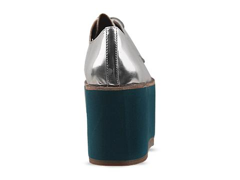 Jeffrey Campbell In Blue Hair Silver Skalite