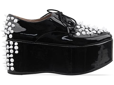 Jeffrey Campbell In Black Patent White Skalite Spike