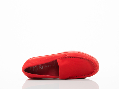 Jeffrey Campbell In Red Mesh Red Skip Wedge