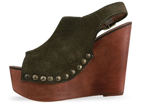 Jeffrey Campbell In Olive Suede Snick Std