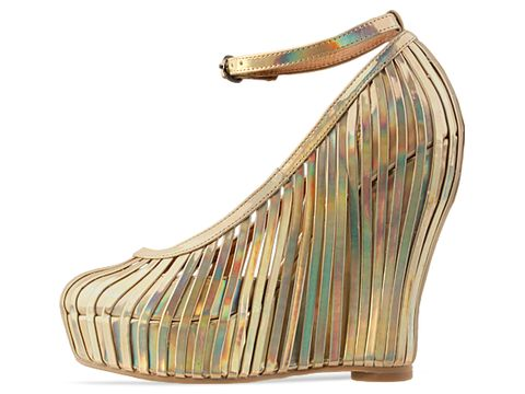 Jeffrey Campbell In Gold Hologram So Crazy