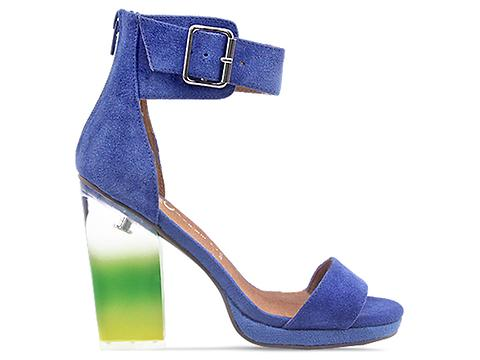 Jeffrey Campbell In Blue Suede Multi Soiree