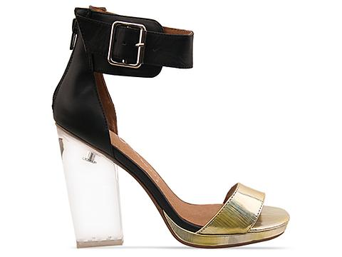 Jeffrey Campbell In Gold Black Clear Soiree