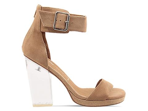 Jeffrey Campbell In Nude Suede Clear Soiree