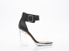 Jeffrey Campbell In Black Silver Clear Soiree 2.0