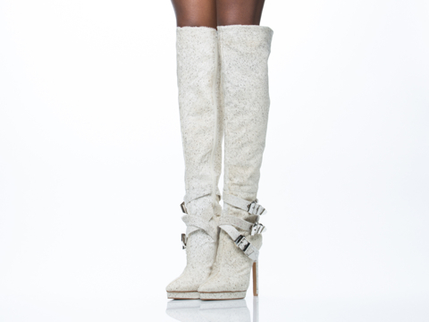 Jeffrey Campbell In White And Black Pony Soldado Fur