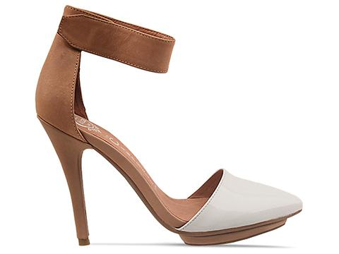 Jeffrey Campbell In White Patent Nude Solitare