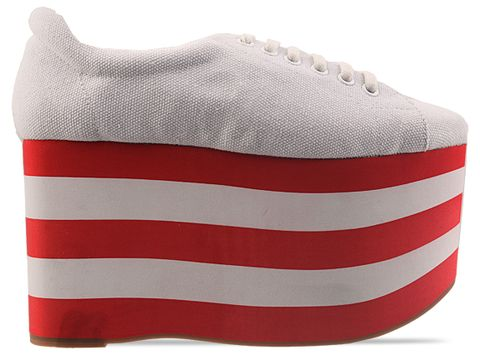 Jeffrey Campbell In White Red Sporty