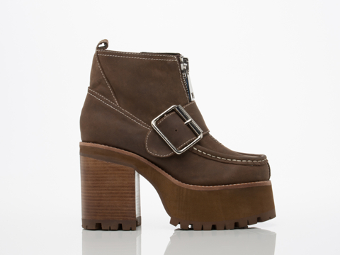 Jeffrey Campbell In Brown Crazy Horse Staley