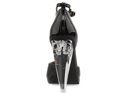 Jeffrey Campbell In Black Patent Clear Lights Sterling Light