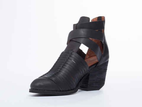 Jeffrey Campbell In Black Distressed Stillwell