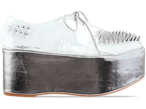 Jeffrey Campbell In Silver Clear Stinger Spike