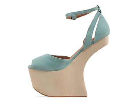 Jeffrey Campbell In Pastel Green Suede Str8up