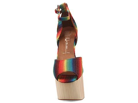 Jeffrey Campbell In Rainbow Multi Str8up