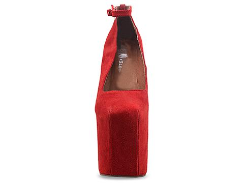 Jeffrey Campbell In Red Suede Street Cred
