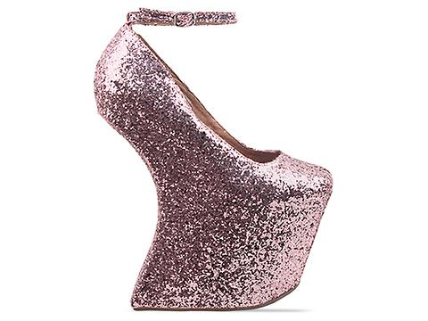 Jeffrey Campbell In Rose Gold Glitter Street Cred
