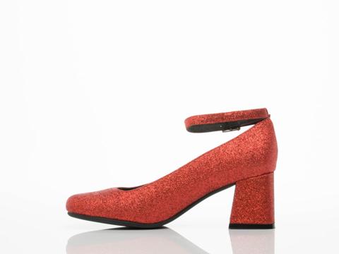 Jeffrey Campbell In Red Glitter Sweet Jane