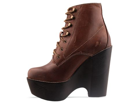 Jeffrey Campbell In Brown Distressed Tardy