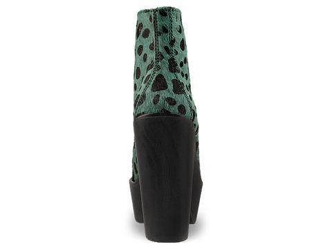 Jeffrey Campbell In Green Black Leopard Tardy Fur