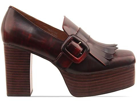 Jeffrey Campbell In Dark Red Ted Baxter