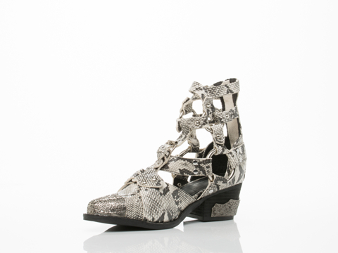 Jeffrey Campbell In Grey Black Shiny Snake Temeku