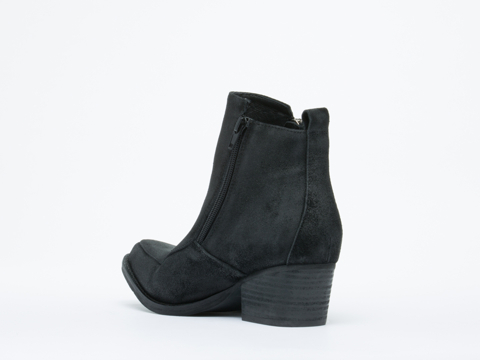 Jeffrey Campbell In Black Distressed Suede Temple