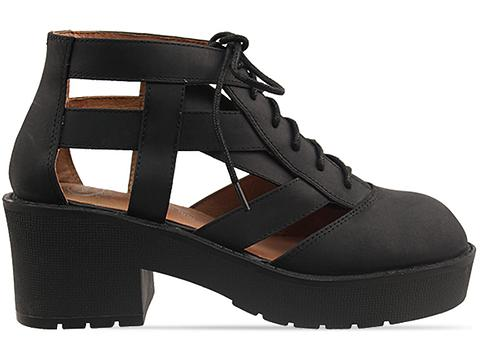 Jeffrey Campbell In Black Distressed Thomb