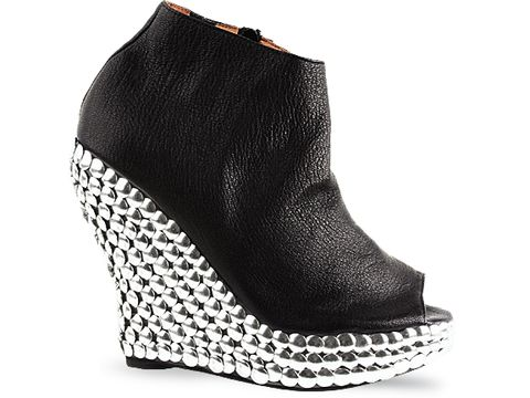 Jeffrey Campbell In Black Grainy Leather Tick