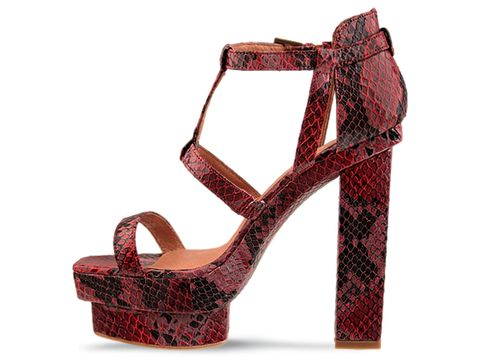 Jeffrey Campbell In Red Black Python Toledo
