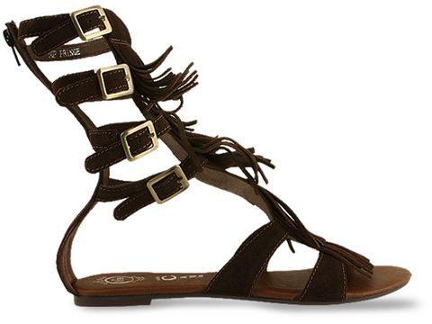 Jeffrey Campbell In Brown Top Fringe