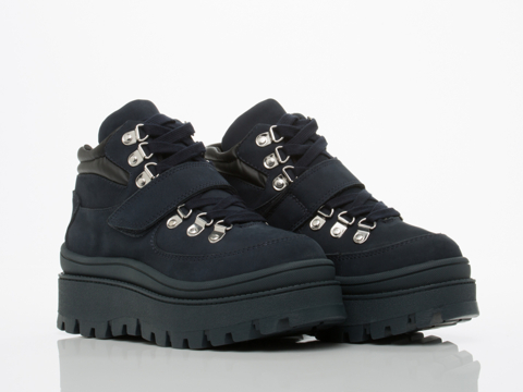 Jeffrey Campbell In Navy Nubuck Top Peak