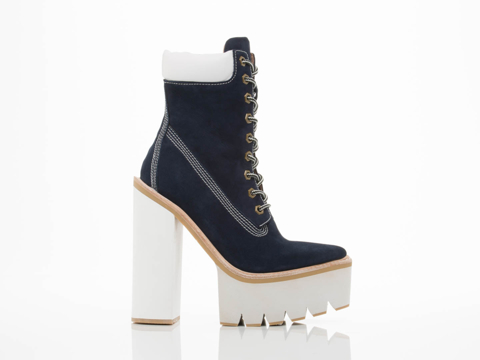 Jeffrey Campbell In Navy Nubuck White Travail