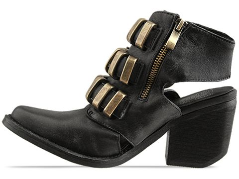 Jeffrey Campbell In Black Distressed Tripoli