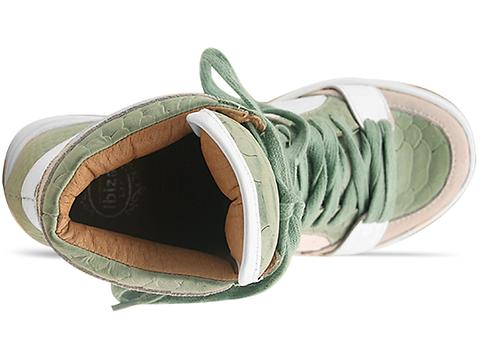 Jeffrey Campbell In Light Green Croco White Tronic