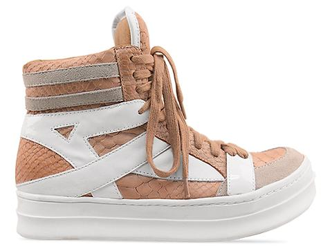 Jeffrey Campbell In Light Pink Croco White Tronic