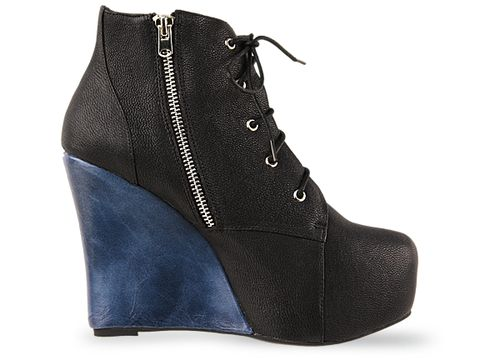 Jeffrey Campbell In Black Navy Two Timer