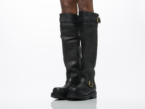 Jeffrey Campbell In Black Distressed Ty 379